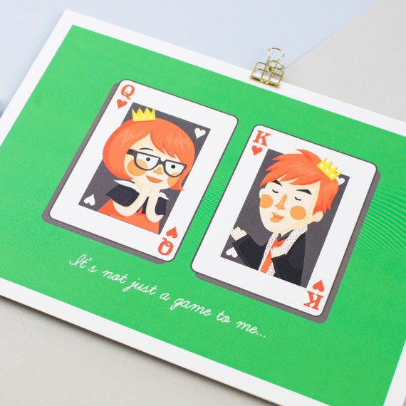 King and Queen of Hearts Print