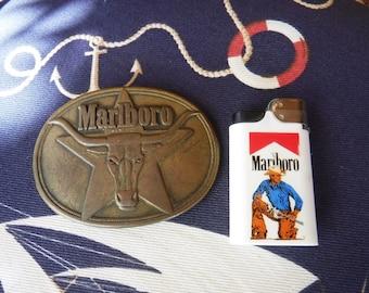Marlboro belt buckle and lighter 1980's