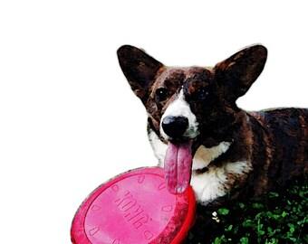 Custom Digital Pet Portrait - Watercolor