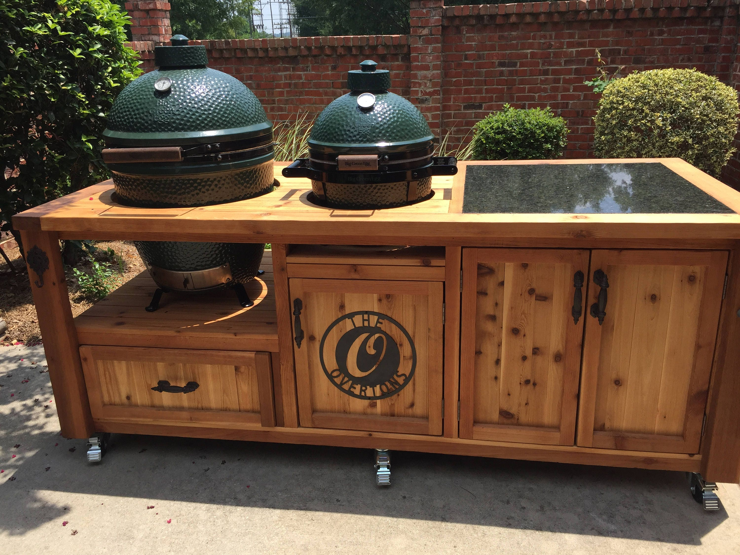 Dual Grill Cabinet For Kamado Joe Primo Or Big Green Egg