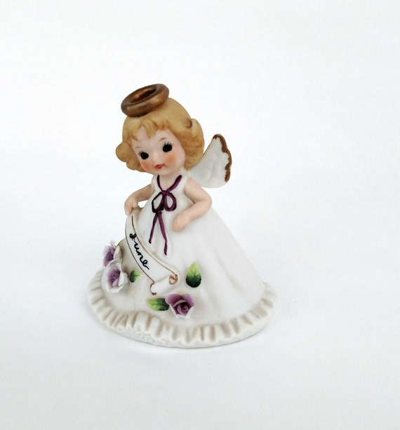 Vintage Josef Originals June Birthday Angel Porcelain Figurine