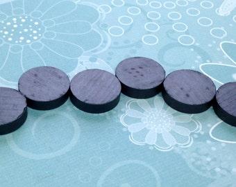 "Quantity 25: 3/4"" 19 mm Ceramic Magnets  -STRONG- craft magnet- black magnet- disc magnet- perfect for bottlecap magnets"