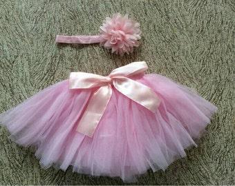 Light pink Newborn tutu set