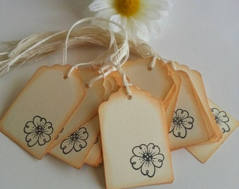 Gift tags, Favor tags, Scrapbooking tags, Journaling tags, Price tags, Flower tags, Set of 25 or 100