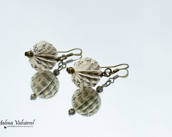 Spherical Paper Earrings - Paper Jewelry