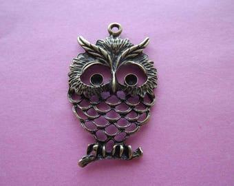 Bronze metal OWL charm/pendant