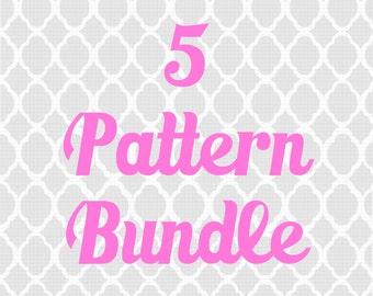 5 Pattern Bundle -Crochet pattern bundle, Pick any 5 patterns and save