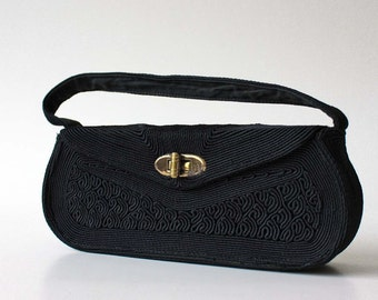 Elegant Vintage Evening Bag in Black