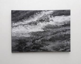 Black sea. Acrylics. 50x70cm
