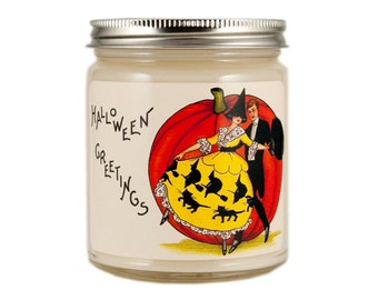 Halloween Candle, Halloween Decor, Scented Candle, Soy Candle, Vintage Candle, Vintage Halloween, Container Candle, Halloween Decoration