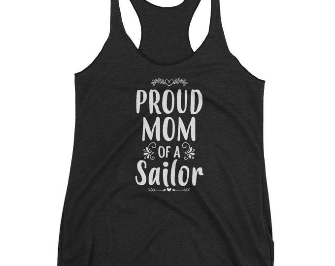 Women's Proud Mom of a Sailor tank top - Gift for mother of Sailor
