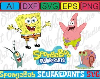 SpongeBob, Plankton, Patrick & Gary SVG