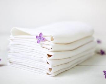 White napkins set 50 - Wedding napkins - White linen napkins - linen napkin cloths - Wedding table linens - Express shipping