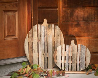 Wood Pumpkins - Fall Decor - Porch Decor - Halloween - Barn Wood
