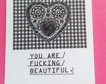 Body Positive Label Sticker 'YOU ARE ******* BEAUTIFUL.'