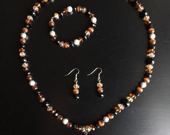 Cheetah Heart Fashion Jewelry Set