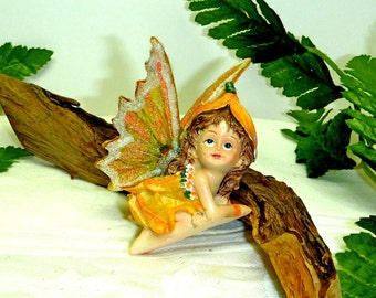 FAIRY CHILD. Young Fairy in a Special Creamsicle Pixie Drsss - Whimsical.  Sparkly Fairy.  With FAWN Option. Woodland Fairy. Fairy Children.