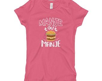 Girl's T-Shirt - Manje Tout Manje
