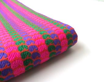 Neon paisley velvet silk neon orange green blue pink India velvet silk brocade fabric nr 348 fat quarter