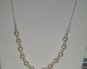 Pearl Angel Necklace with Silver