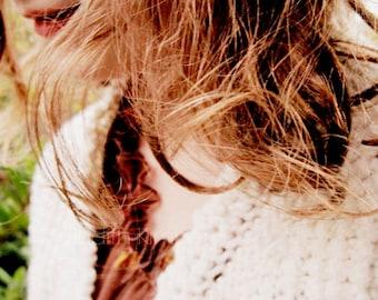 Portrait Photography - Autumn Girl Fine Art Photograph - Fall - 8x10