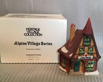 Dept 56 Heritage Village  - Alpine  Collection, Kukuck Uhren