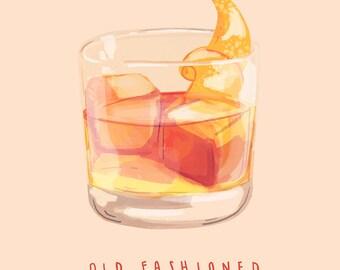 Old Fashioned - Illustration Print