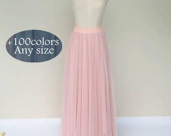 Women long tulle skirt dress, floor length lovely adult tutu