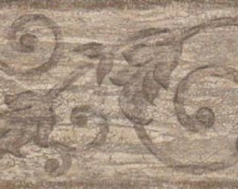 Leaf Leaves Scroll VC838B Wallpaper Border
