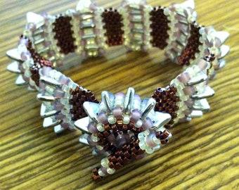 "XS Spiky Sea Urchin Seed Beaded Peyote Stitch Bracelet - 6"" - Hannah Rosner"
