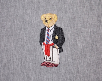 3.2in*1.4in Embroidered Super Hero Bear Embroidered Iron On Patch Badge Sew On Badge Logo