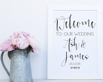 Welcome Printable Sign, Wedding Printable Signs, Wedding Welcome Sign, Custom Wedding Sign, Printable Signs, Printable Sign, Welcome Sign