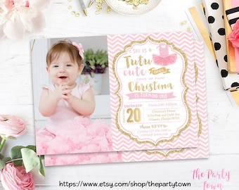 Birthday party invite printable wild one jungle party 1st tutu pink and gold invitation photo ballerina gold glitter invitation 1st birthday girl birthday kids birthday invite printable invite stopboris Gallery