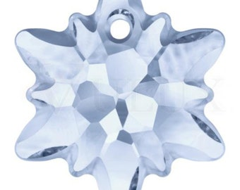 Wholesale Swarovski 6748G Edelweiss Pendant  18 mm Blue Shade