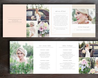 Wedding Pricing Guide - Photography Price List Template - Photo Marketing Design - Photoshop Templates for Photographers