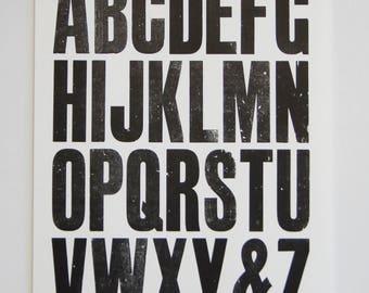 Type Specimen Sheets (2) Large Letterpress Print