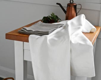 White Linen Tablecloth, Natural Linen, Linen Table Cloth, Bohemian Linen Table Cloth, Linen
