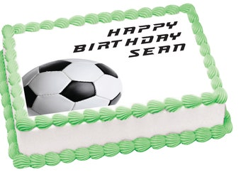 Soccer edible image for cakes, cupcakes or cookies
