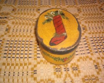 Christmas Stocking with Greens Box