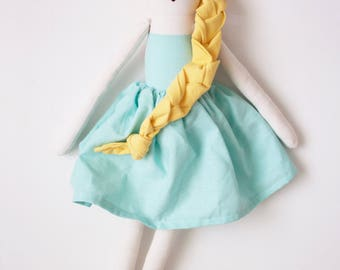 Hollywood Princess Grace Kelly Cloth Doll: handmade with organic cotton