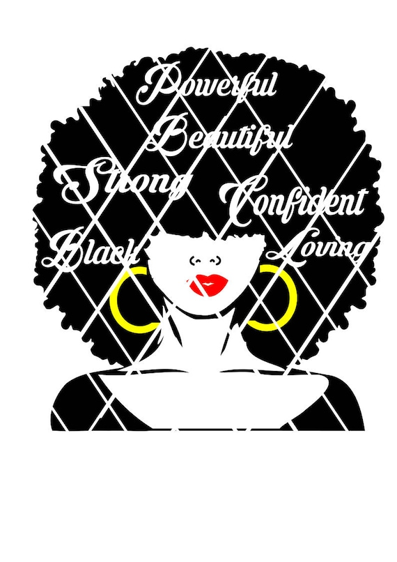 Afro Hair Lady Svg Natural Hair Svg Words In Hair