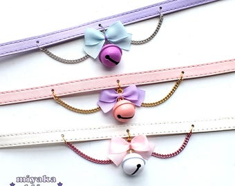 bell collar choker pastel goth gothic lolita alternative kawaii cute harajuku neko cat