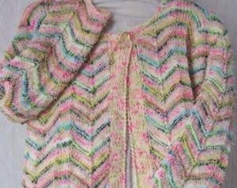 Tutorial: Instructions: cotton candy colors vest