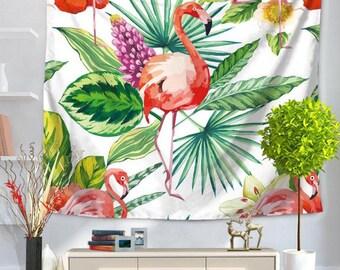 Flamingo Tapestry Wall Hanging Tapestry Wall Hanging Decoration for Living Room Abstract Wall Tapestry Boho Wall Decor Mandala Wall Art