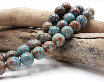 Exceptional stone Chrysocolla natural 8 mm beads - gemstone bead - 48 - A247