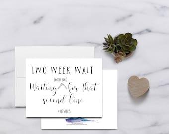 Two Week Wait...  IVF Card IVF Cards, Infertility Card, Infertility Cards, Infertility Encouragement Card, Infertility Support