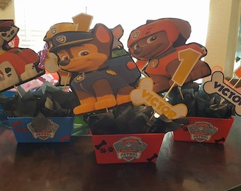 Paw Patrol dogs Birthday Party Centerpieces Favors