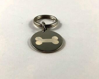 Dog bone tag • Dog bone pet tags • Custom engraved pet tags • Pet ID tags • Tags for collars • Custom Pet ID tag • Personalized pet tag