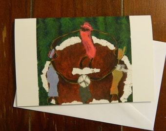 Ritual Dance blank greeting card with envelope