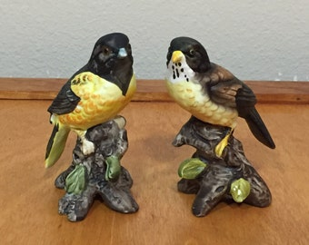 Set of Two - Garden Song Birds Figurine - UCTCI Japan